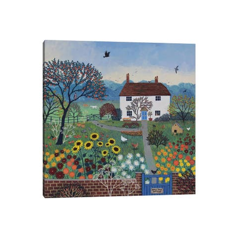 "iCanvas ""Apple Tree Cottage"" by Jo Grundy Canvas Print"