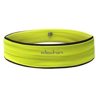 Sports Belt Hiking Running Waist Pack Expandable Bag Yellow Medium by Clothin