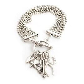 Nunn Design Jewelry Kit, Lucky Charm Bracelet, 7.25 to 8, 1 Bracelet, Antiqued Silver