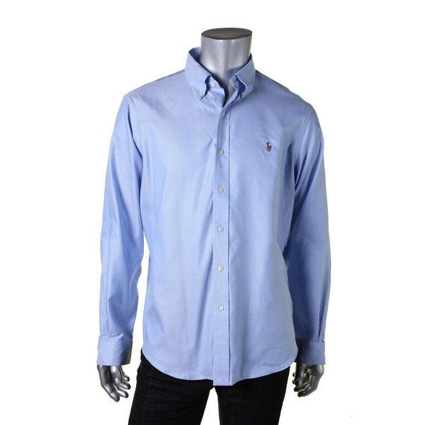 Polo Ralph Lauren Mens Button-Down Shirt Knit Pindot