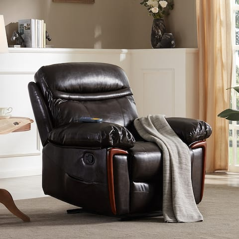 Merax PU Leather Recliner Chair with Heat and Massage