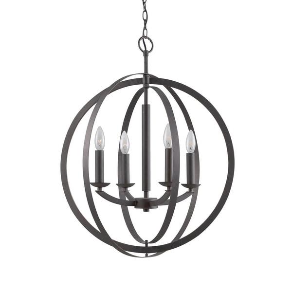 "Woodbridge Lighting 14420 Lola 4-Light 20-1/2"" Diameter Single Tier Globe Chandelier"