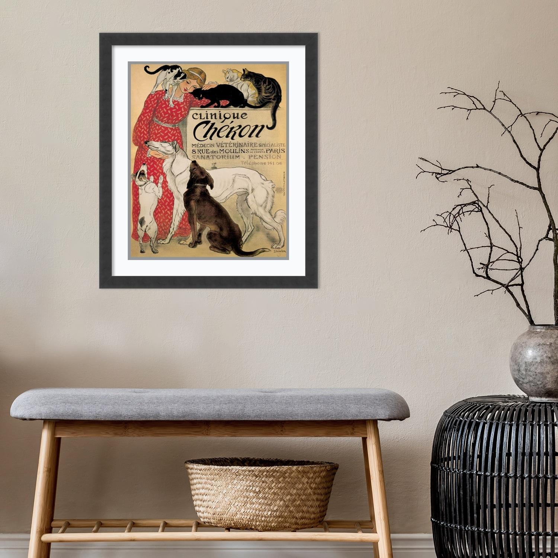 Clinique Cheron Théophile Alexandre Steinlen Art Nouveau Dogs Poster