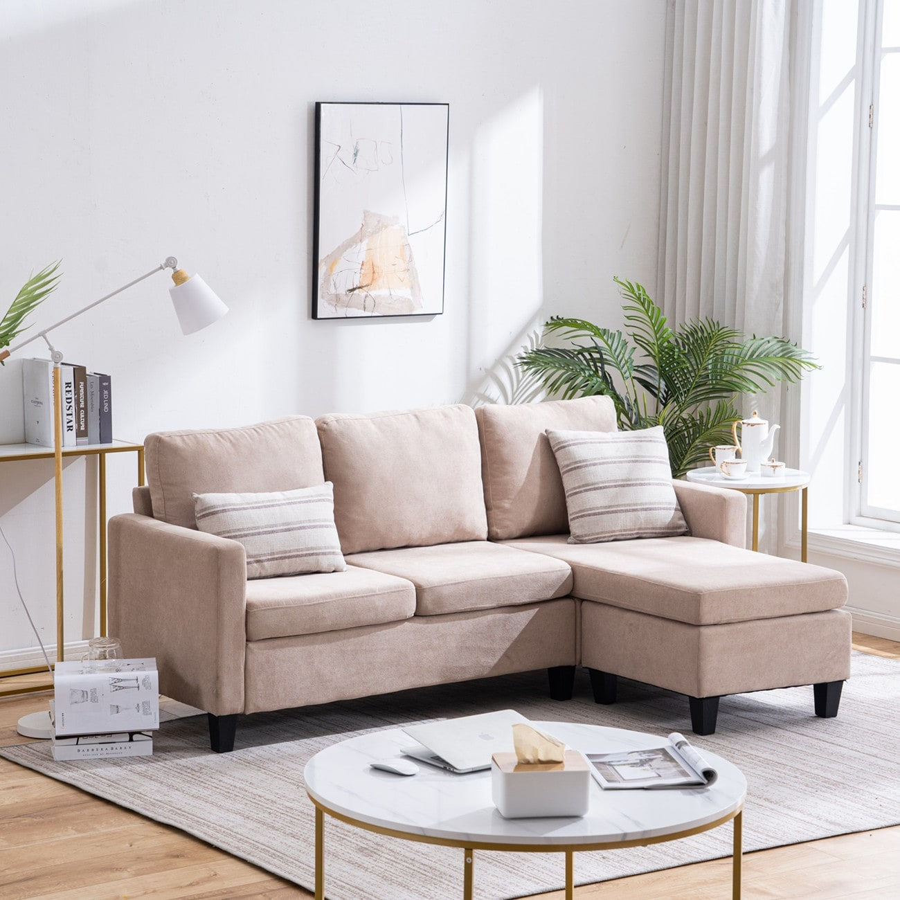 Reversible L Shaped Sectional Sofa Set Overstock 31165339