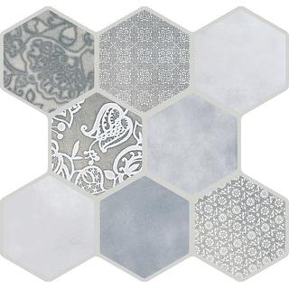 """Emser Tile F19VIRT1818P9  Virtue - 16-3/4"""" x 17-1/2"""" Hexagon Floor and Wall Tile - Smooth Floor and Wall Tile Visual"""
