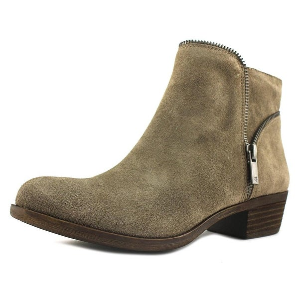 Lucky Brand Boide Women Round Toe Suede Gray Ankle Boot