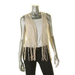 Denim & Supply Ralph Lauren Womens Vest Crochet Fringe - s