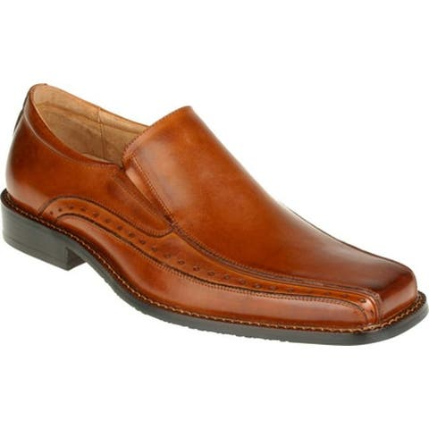 Stacy Adams Men's Danton 24363 Cognac Buffalo Leather