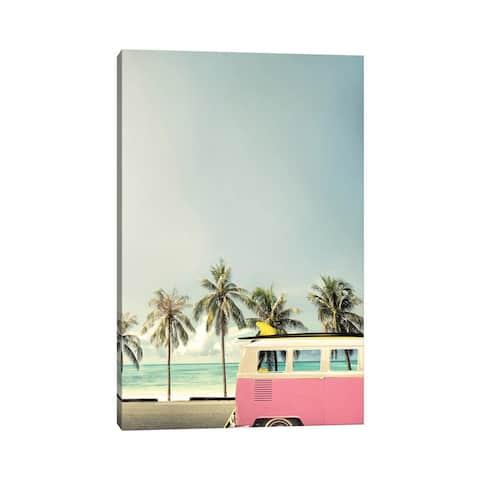 "iCanvas ""Surf Bus Pink"" by Design Fabrikken Canvas Print"