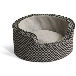 K&H Manufacturing KH4305 Round Comfy Sleeper self warming pet bed Gray / Black
