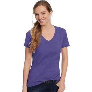 Hanes Women's Nano-T® V-Neck T-Shirt - Size - 2XL - Color - Purple