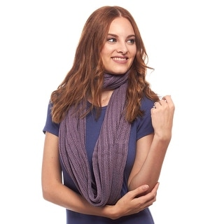 Chunky Ribbed Knit Eternity Scarf
