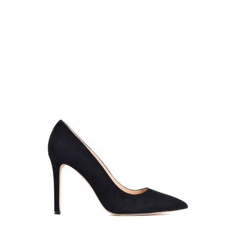 Manolo Blahnik Womens BB Black Suede Pointed Toe Pumps