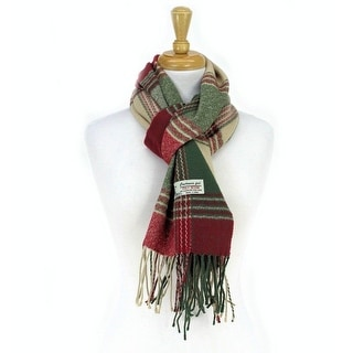 Link to Plaid Cashmere Feel Classic Soft Luxurious Scarf For Men and Women - Army Green Similar Items in Scarves & Wraps