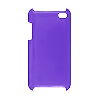 Plastic Hard Phone Case Cover Clear Purple for iPod Touch 4G