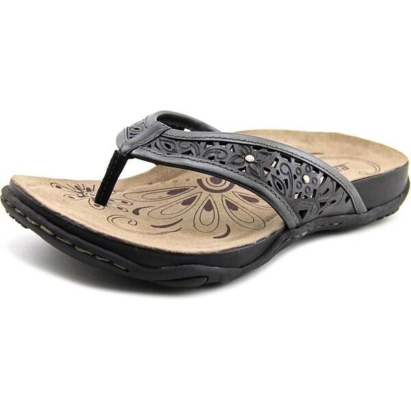 Earth Maya Women Open Toe Leather Thong Sandal