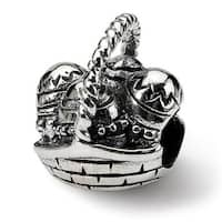 Sterling Silver Reflections Easter Basket Bead (4mm Diameter Hole)