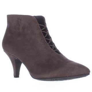 Rialto Maxine Cross Strap Ankle Booties - Ash