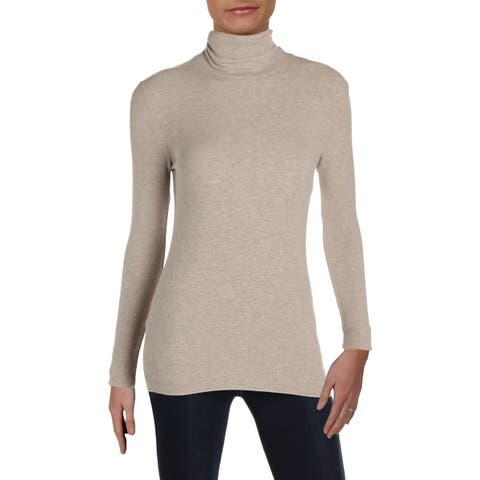Polo Ralph Lauren Womens Knit Top Ribbed Turtleneck - XS