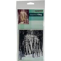 """Winter's Forest - Penny Black Cling Stamps 5""""X7"""""""
