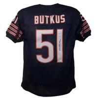Dick Butkus Autographed Chicago Bears Size XL Blue Jersey JSA