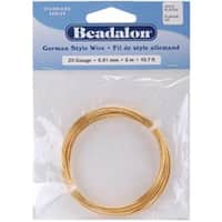 Gold Round - 20 Gauge; 19.7' - German Style Wire