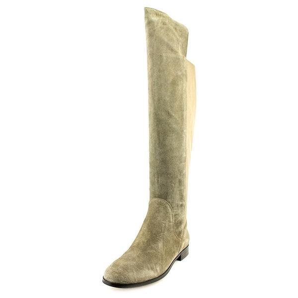 Corso Como Larissa Women Round Toe Suede Tan Over the Knee Boot