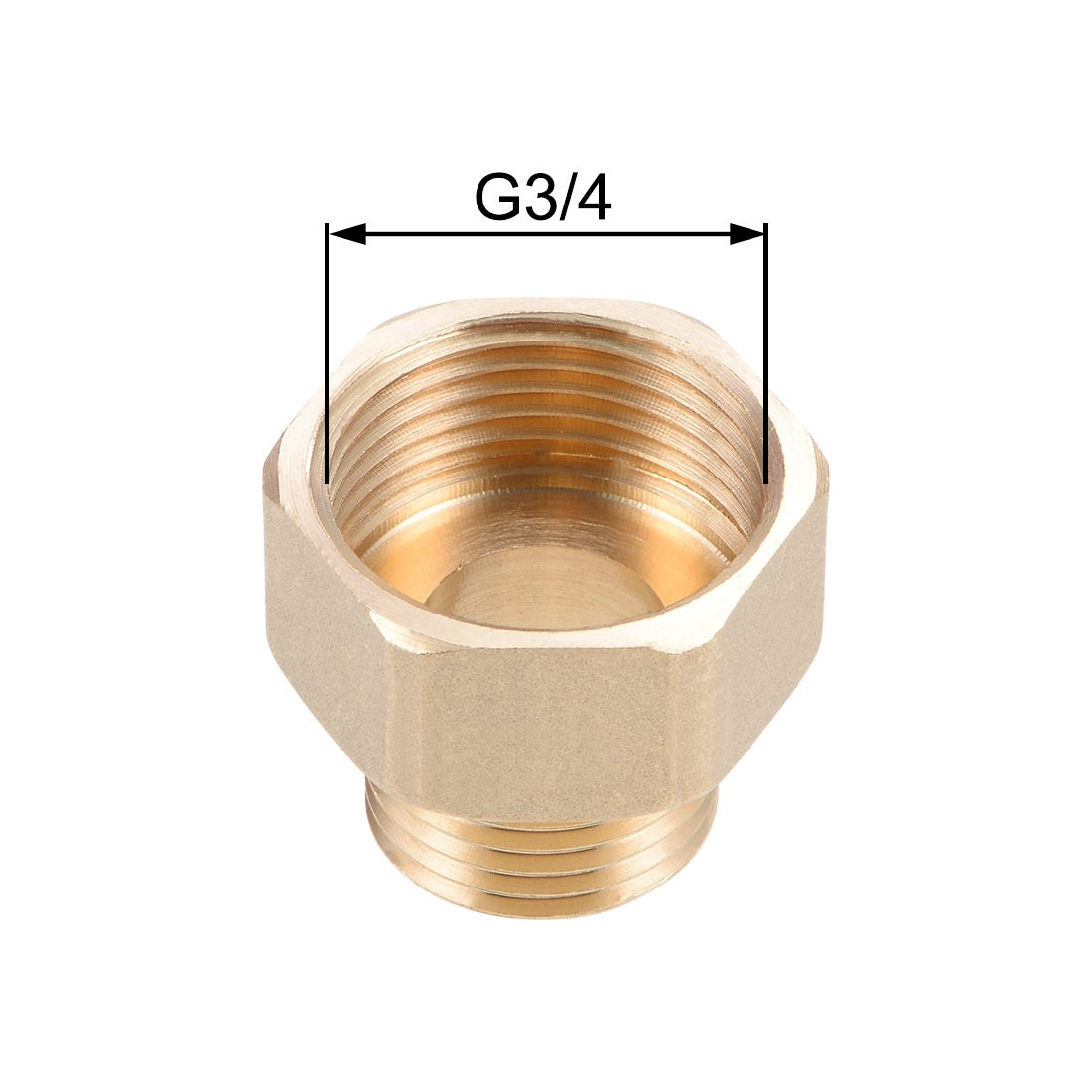 Pipe Fitting G3//4 Male x 1NPT Female Hex Bushing Adapter 36mm Length 2Pcs