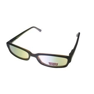 Levi Opthalmic Eyeglass Plastic Rectangle Frame 546 1 Black - Medium
