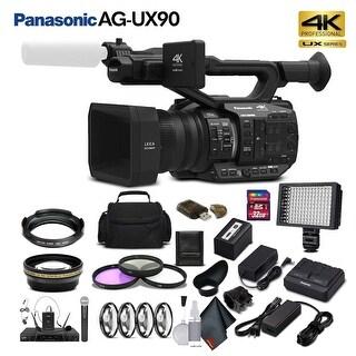 Panasonic AG-UX90 4K/HD Professional Camcorder (Intl Model) Bundle