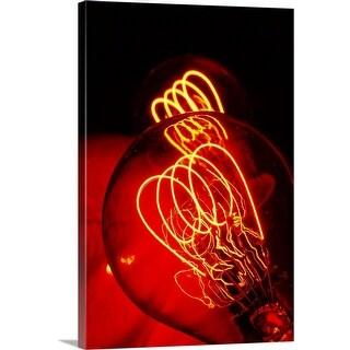 """bulb"" Canvas Wall Art"