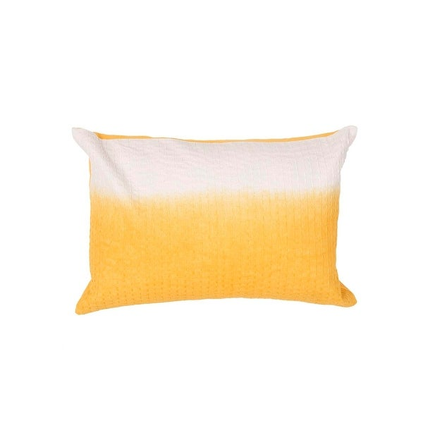 "20"" Sunrise Yellow and Breeze White Two Tone Abstract Pattern Decorative Throw Pillow"