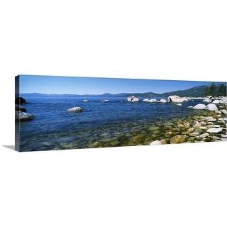 """Boulders at the coast, Lake Tahoe, California"" Canvas Wall Art"