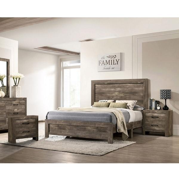 Furniture of America Justinna 3-piece Bedroom Set with 2 Nightstands. Opens flyout.