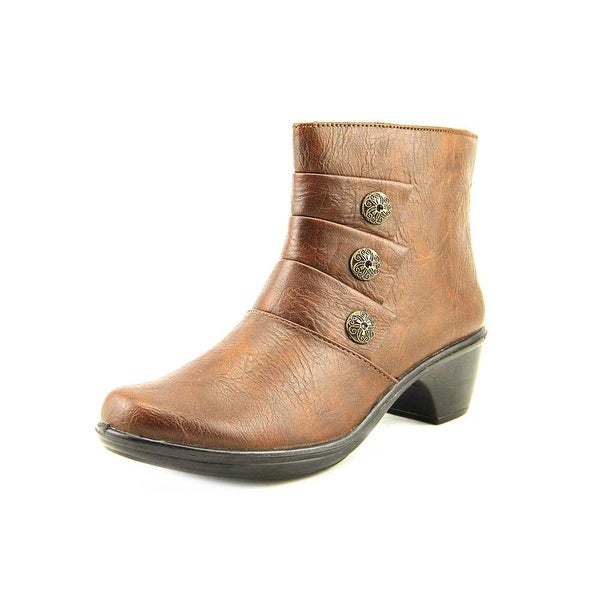 Easy Street Arlene Round Toe Synthetic Ankle Boot
