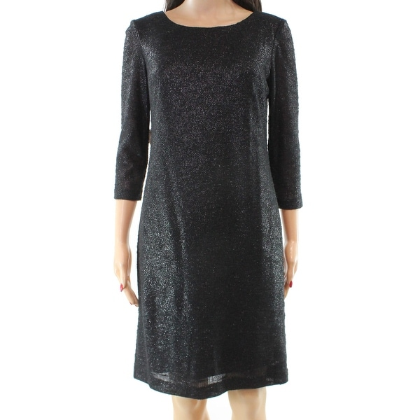 shop chetta b new gray womens size 8 boat neck shimmer ponte sheath