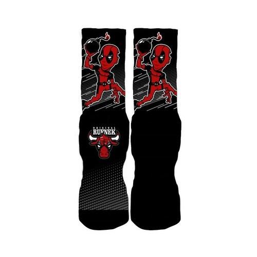 Rufnek Deadpool Bredpool Skyhigh Socks