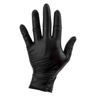 SUNLITE Gloves Nitrile Mechanic Lg Black Box of 100 - GLV-01