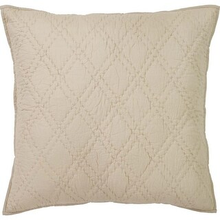 VHC Brands Casey Cotton Euro Sham with Tie Closures, Taupe