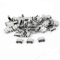 Unique Bargains 50 x SMD SMT Micro USB Jack Port 5Pin Female Socket Power Connector