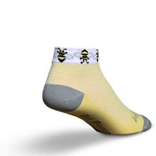 SockGuy Women's 1in Bees Cycling/Running Socks - Size S/M - SGLCBEE