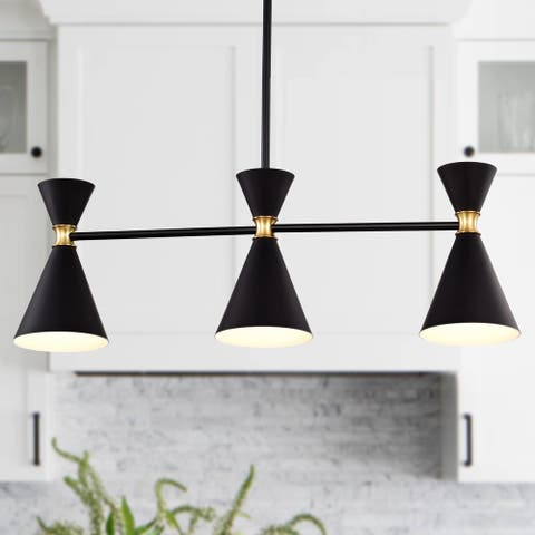 3-Light 31.5 in. Hanging Chandelier Island Pendant Light with Adjustable Height