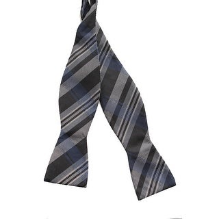 Ryan Seacrest Distinction Black Hills Multi-Plaid Bow Tie Os