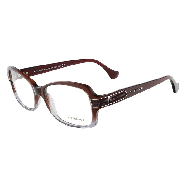 Balenciaga BA5005/V 068 Mahogany Gradient Grey Rectangular Opticals - 53-15-135