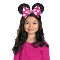 Minnie Mouse Red and Pink Costume Ears - standard - one size