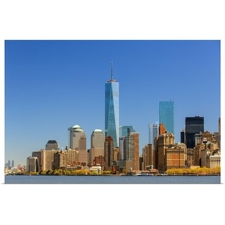 """""""Skyline of New York with one World Trade Center"""" Poster Print"""