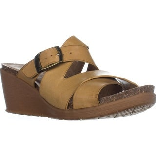 BareTraps Nealy Wedge Sandals, Auburn