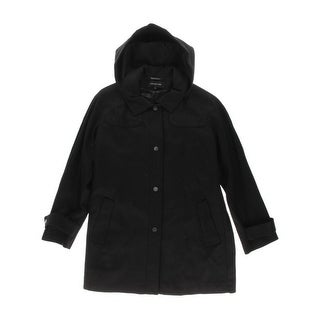 Jones New York Womens Plus Coat Wool Snap Front