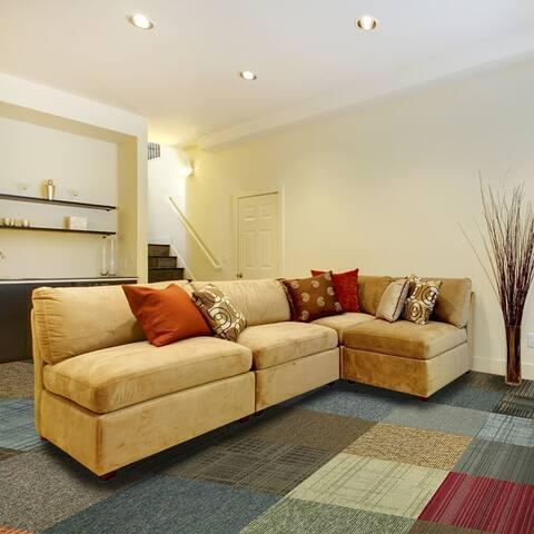 """4urFloor -Assorted Carpet Tile 24""""x 24"""" (12 tiles -48sqft)"""