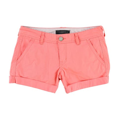Aeropostale Womens Midi Casual Walking Shorts